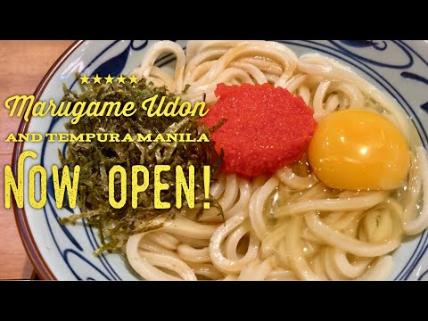 Marugame Udon and Tempura Manila Philippines Now Open! Bonifacio High Street
