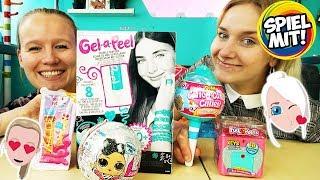 5 NEUE MÄDCHEN SPIELZEUGE - Fun Lockets, L.O.L. Surprise, Num Noms, Cotton Candy Cuties, Gel a Peel