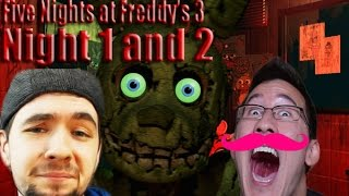 Jacksepticeye and Markiplier play Five Nights at Freddy
