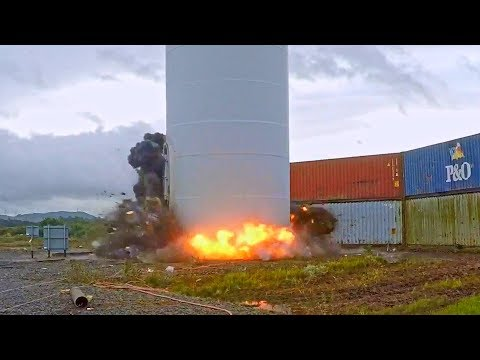 Hunterston Wind Turbine and Communications Tower - Controlled Demolition, Inc.