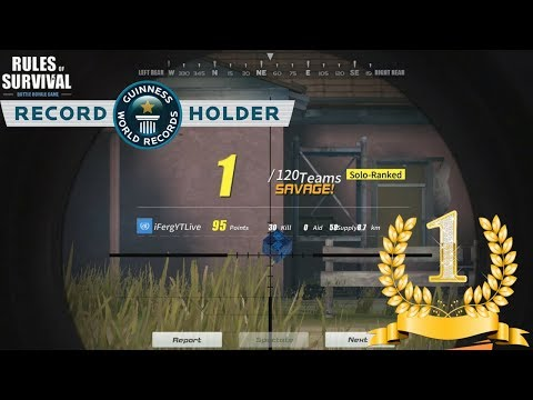 I Got The WORLD RECORD KILLS in Rules Of Survival | Mobile ROS World Record !