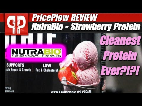 NutraBio 100% Whey Isolate Strawberry Ice Cream Flavor Review
