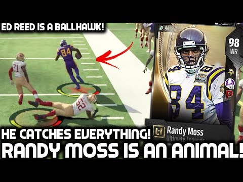 RANDY MOSS CATCHES EVERYTHING! ED REED IS A BALL HAWK! Madden 18 Ultimate Team