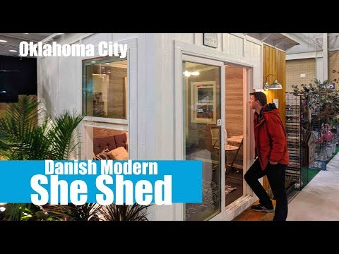 "Danish Modern ""She Shed""- Your own art studio office for less"