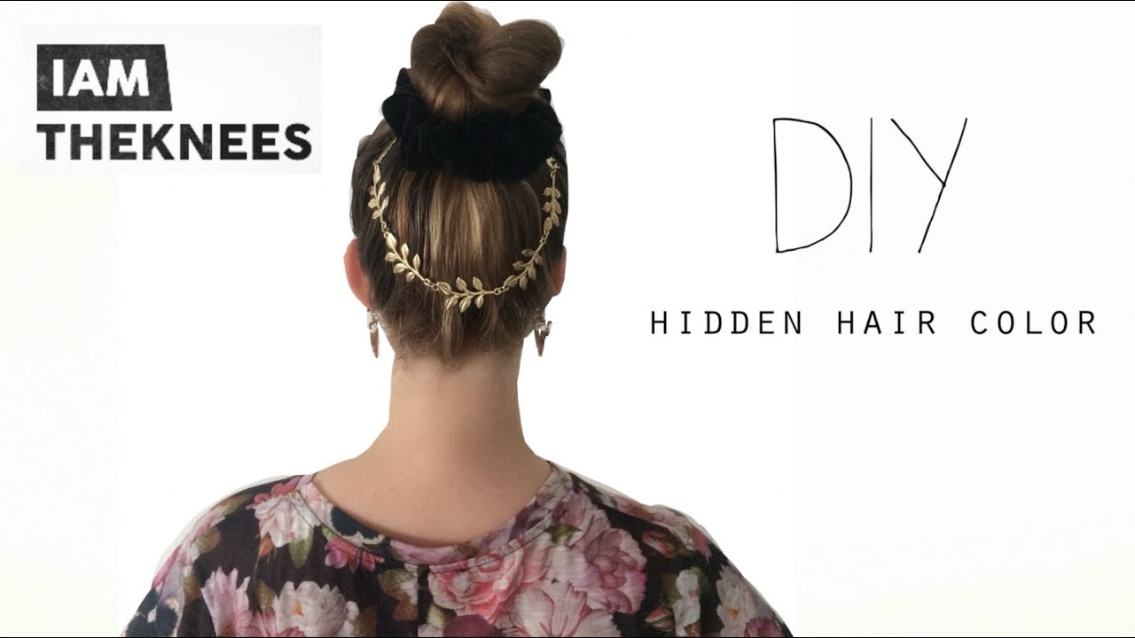 Hidden Hair Color Diy