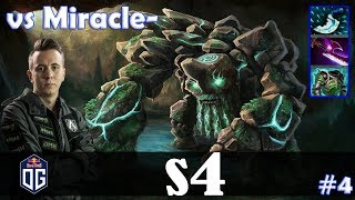 s4 - Tiny MID | vs Miracle (Lifestealer) | 7.11 Update Patch | Dota 2 Pro MMR Gameplay #4