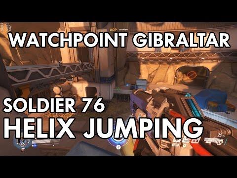 Soldier 76 Helix Rocket Jumps on Watchpoint Gibraltar | Overwatch Tutorial Series