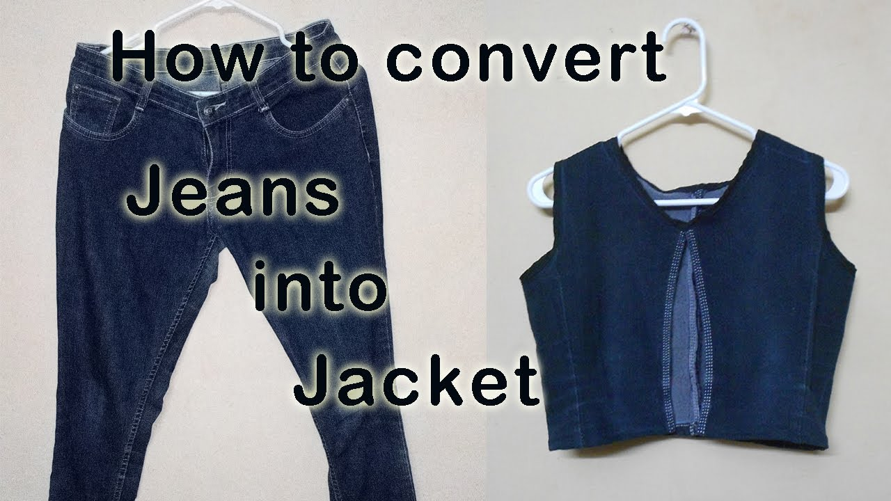 38e970ff4b4 How to make Jacket   coat with Old Jeans