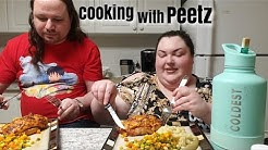 CHEESY BBQ STUFFED CHICKEN COOK MUKBANG WITH PEETZ! PRE RECORDED