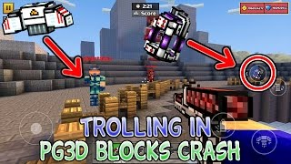 Trolling Players in the Pixel Gun 3D Blocks Crash Minigame
