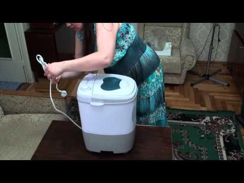 Распаковка мини стиральной машинки