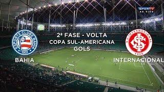 Gols - Bahia 1 x 1 Internacional-RS - Copa Sul-Americana 2014 - 04/09/2014