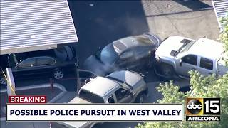 RAW: Police draw guns, pursuit ends in big crash with police dog released