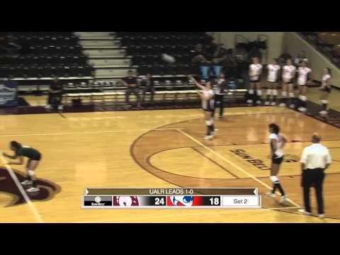 2014 Sun Belt Conference Volleyball Championship᎓ Match 1 UALR vs South Alabama