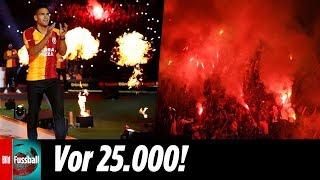 """Radamel falcao wurde den fans von galatasaray istanbul nach seinem wechsel an bosporus offiziell vorgestellt. knapp 25.000 anhänger bereiteten """"el tigre""""..."""
