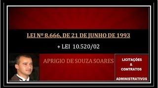 LEI 8666 DE JUNHO DE 1993-LICITAÇÕES E CONTRATOS 1