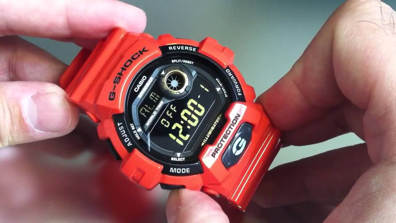 separation shoes b44d1 f85a2 Orange Casio G-Shock World Time Watch G8900A-4