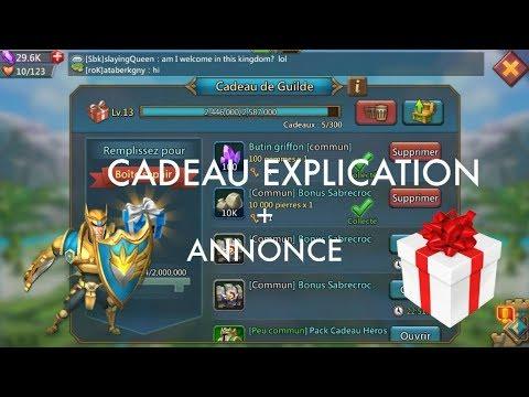 LORDS MOBILE FR : Les Cadeaux + Annonce