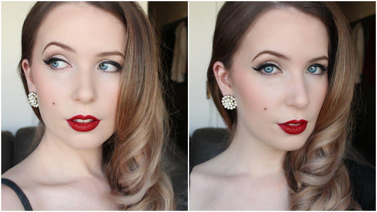 simple 1950s makeup tutorial arna alayne youtube