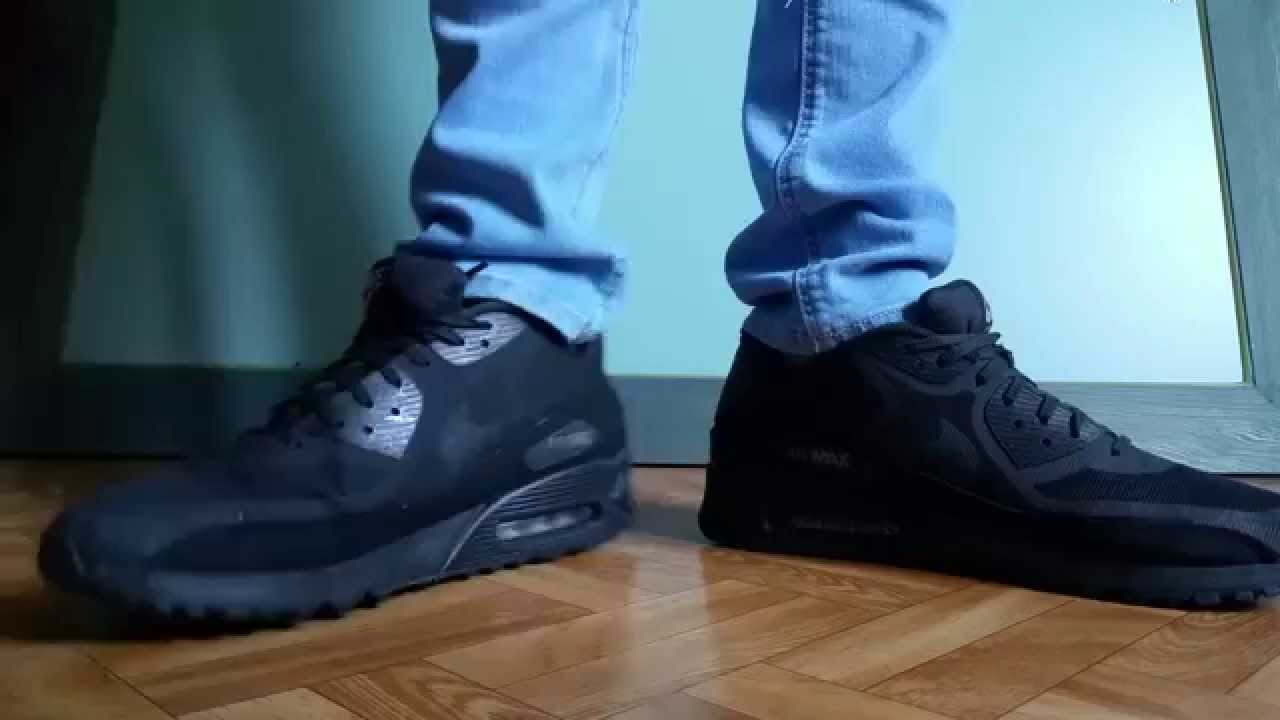 buy online ef8be e9143 Nike airmax 90 black and blue skinny jeans - YouTube