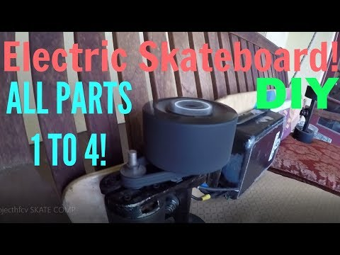 DIY Electric Skateboard! All 4 Videos Combined!