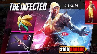 OPENING INFECTED PATIENT SET RE2 8000UC   LICKER UMP9 SKIN   LUCKY TREASURES   PUBG MOBILE
