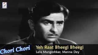 Gambar cover Yeh Raat Bheegi Bheegi - Lata Mangeshkar, Manna Dey @ Chori Chori - Raj Kapoor, Nargis