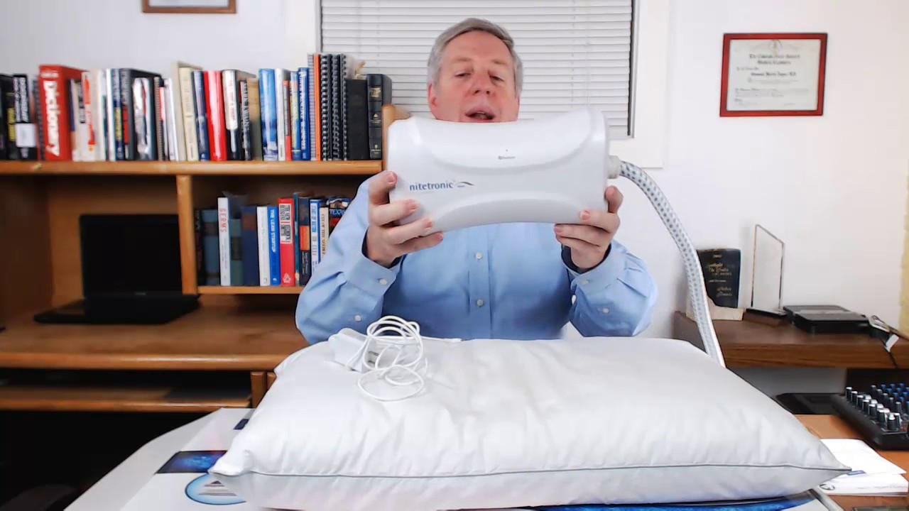 unboxing and setting up the nitetronic goodnite antisnoring pillow