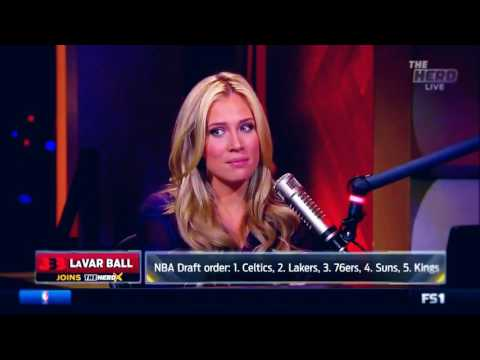 LAVAR BALL ARGUES WITH AN INTERVIEWER (KRISTINA LEAHY) ABOUT BIG BALLER BRAND AND WOMEN