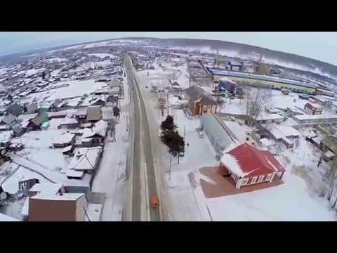 Прогулка по ул. Ленина гор. Уяр(ветер, качество не очень)