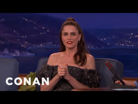 Amanda Peet Can't Stop Swearing  - CONAN on TBS