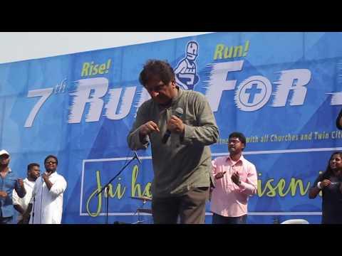 Anil kant and shreya kant singing @ Run for jesus 2017