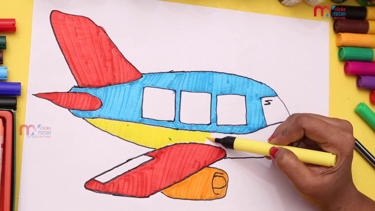 how to draw an airplane for children plane coloring pages my