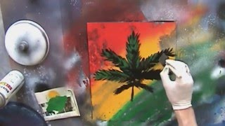 Spray Paint Art Tutorial: Pot Leaf