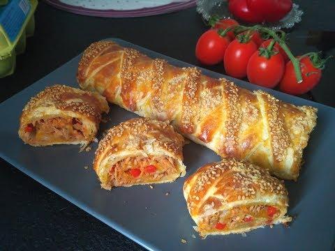 roulé-feuilleté-tressé-au-thon-/-recette-facile
