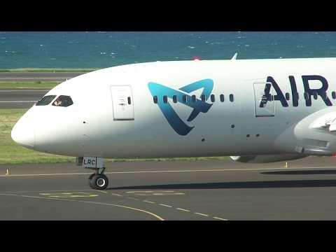 Départ du Dreamliner B787-8 Air Austral pour Mayotte DZA