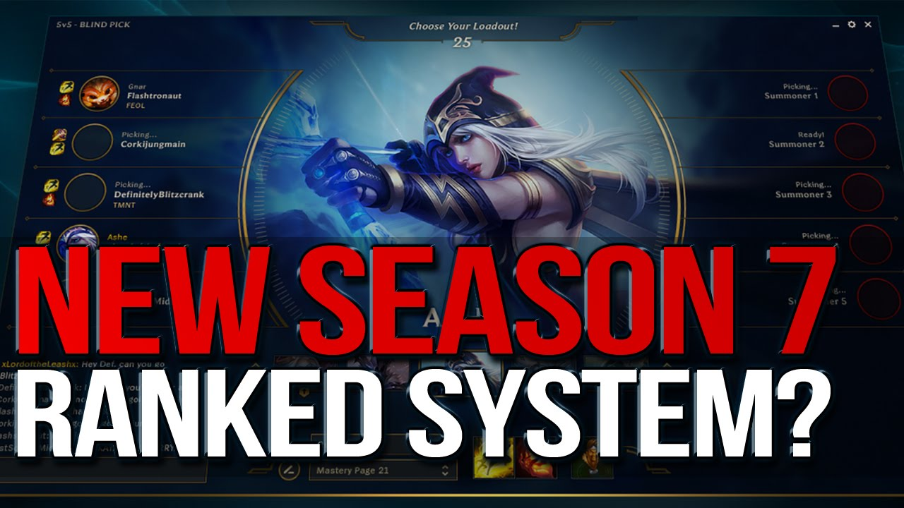 New Season 7 Ranked System League Of Legends Youtube
