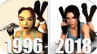 THE Evolution of Tomb Raider Games 1996-2018