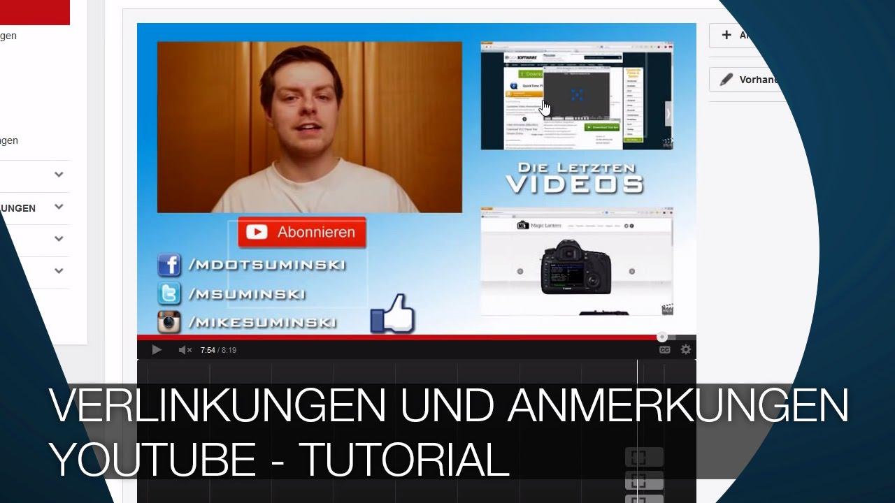 Youtube Anmerkungen