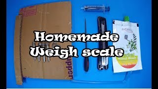 DIY weigh scale a.k.a Archimedes weigh scale