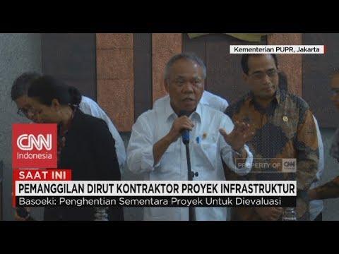 Menteri PUPR: Pemerintah Hentikan Sementara Proyek Infrastruktur di Atas Tanah