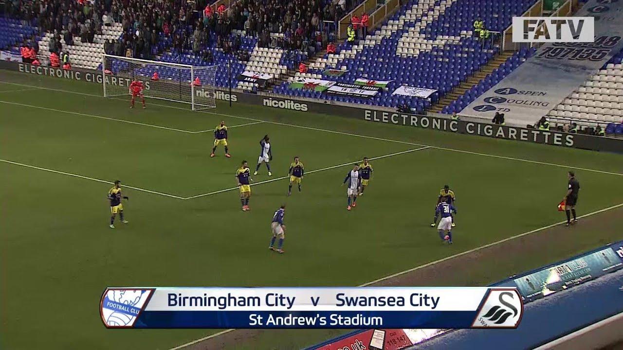 Birmingham City vs Swansea City 1-2, FA Cup Fourth Round 2013-14 highlights