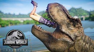 Tyrannosaurus Rex (T-Rex) & Allosaurus Breakout! Jurassic World Evolution