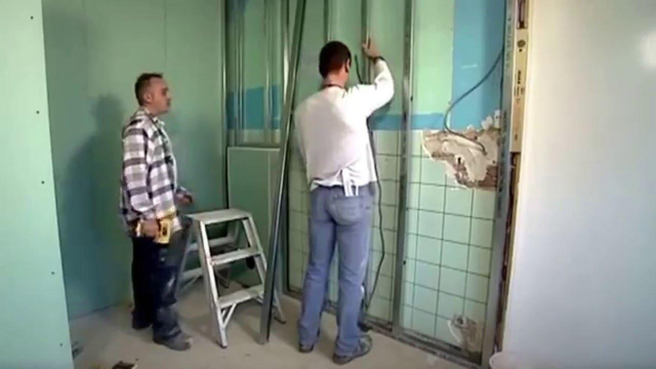 Gyproc - een badkamer inrichten met Metal Stud - YouTube