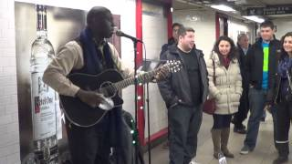Guitaro 5000 - Mo Money Mo Problems @ Union Square subway station 12-28-13