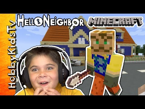 Hello Neighbor Minecraft Crazy PC Gaming HobbyKidsTV