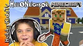 Minecraft HELLO NEIGHBOR PC Video with HobbyKids