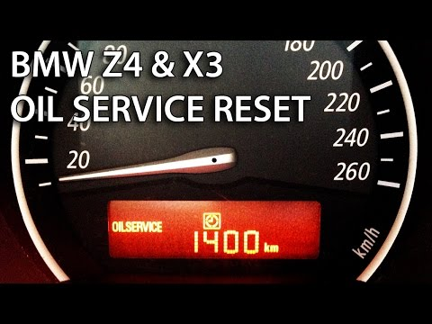 How to reset oil service inspection in BMW Z4 & X3 (SRL maintenance spanner E85 E86 E83)