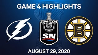 NHL Highlights   2nd Round, Game 4: Lightning vs. Bruins – Aug. 29, 2020