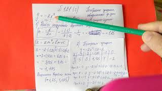 121 (б) Алгебра 9 класс. построение графика квадратичной функции